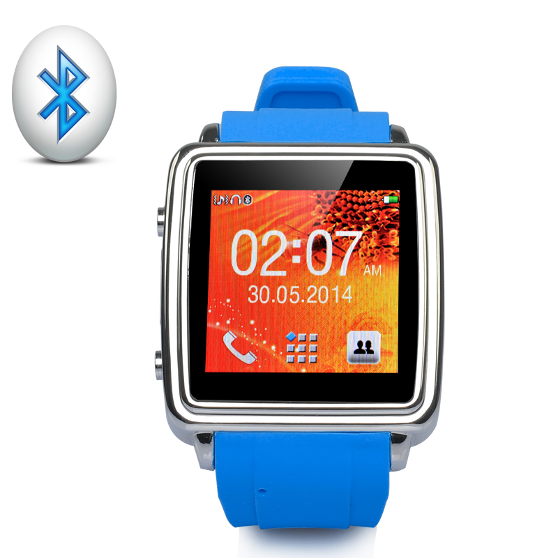Wholesale MiGo - Bluetooth Smart Watch with 1.54 Inch Touch Screen (SMS + Phonebook Sync, Make + Answer Calls, Blue)