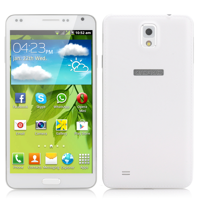 Wholesale Dark Horse - Budget 5.5 Inch Android Mobile Phone (Spreadtrum 1GHz CPU, Dual SIM, White)