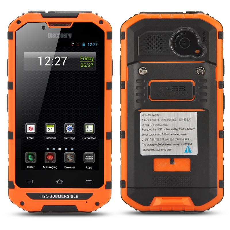 Wholesale 4 Inch Display CDMA 3G Rugged Android Smartphone with 8MP Rear Camera (IP68 Waterproof, Dust Proof, Orange)