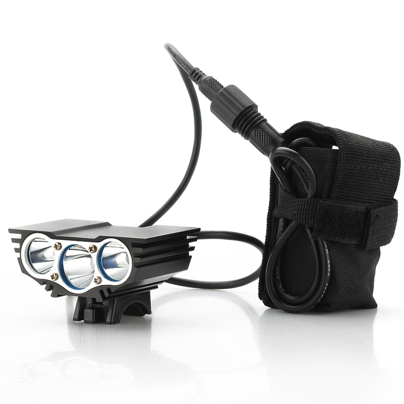Wholesale RoadRunner - CREE XM-L U2 Rechargeable Bike Front Light (3 LEDs, 3000 Lumens, 4800mAh)