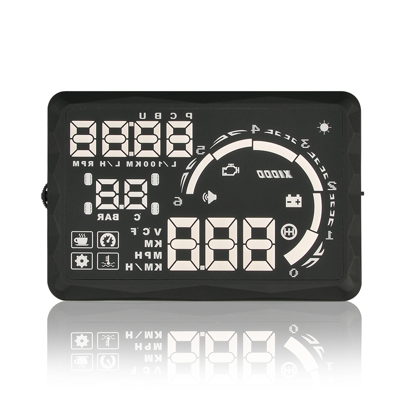 Wholesale Car Head Up Display (5.5 Inch LED Display, OBD II Universal, Plug-and-Play, Over Speed Warning)