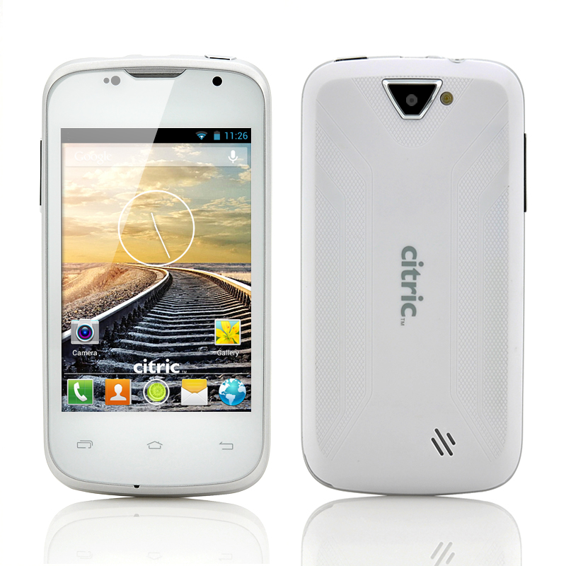 Wholesale Citric C5 3.5 Inch HVGA 3G Android 4.2 Smartphone (Dual Core 1GHz CPU, 480x320, 2MP Camera, White)