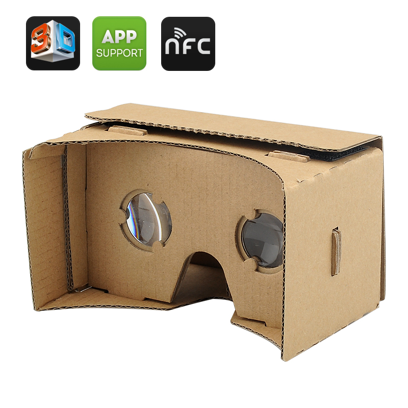 Wholesale DIY 3D Google Cardboard Glasses For iPhone and Android Phones (NFC, Mobile Phone Virtual Reality 3D Glasses)