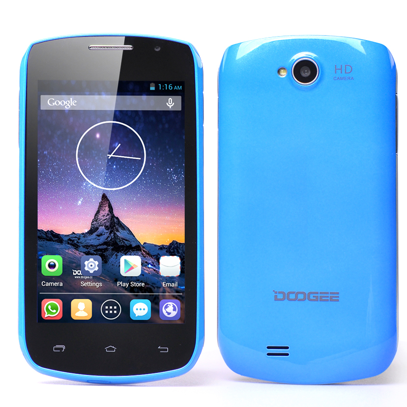 Wholesale DOOGEE DG110 COLLO 3 Android Smartphone with 4 Inch IPS Screen (Dual SIM, Dual Core 1.3GHz CPU, 800x480, Blue)