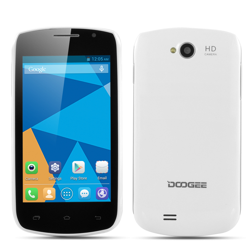 Wholesale DOOGEE DG110 COLLO 3 Dual SIM Android Smartphone (4 Inch IPS Capacitive Screen, Dual Core 1.3GHz CPU, 800x480, White)