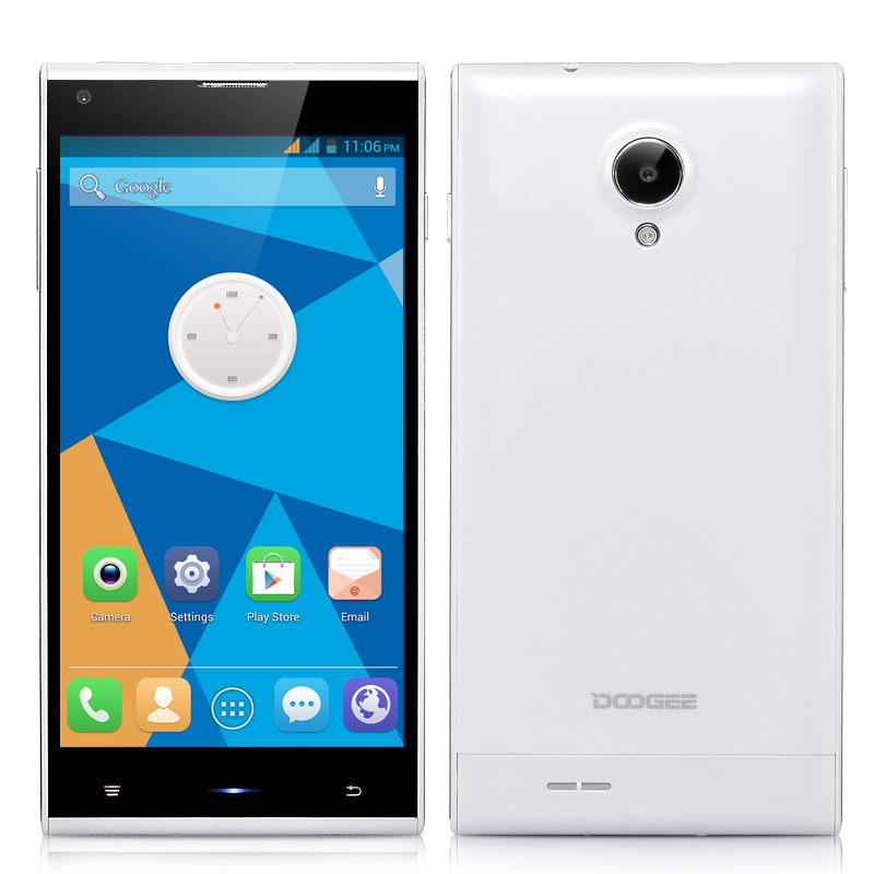 Wholesale DOOGEE Dagger DG550 5.5 Inch HD Octa Core Phone (3G, 13MP Camera + F2.2 Aperture, MTK6592 1.7 GHz, 1280x720, White)