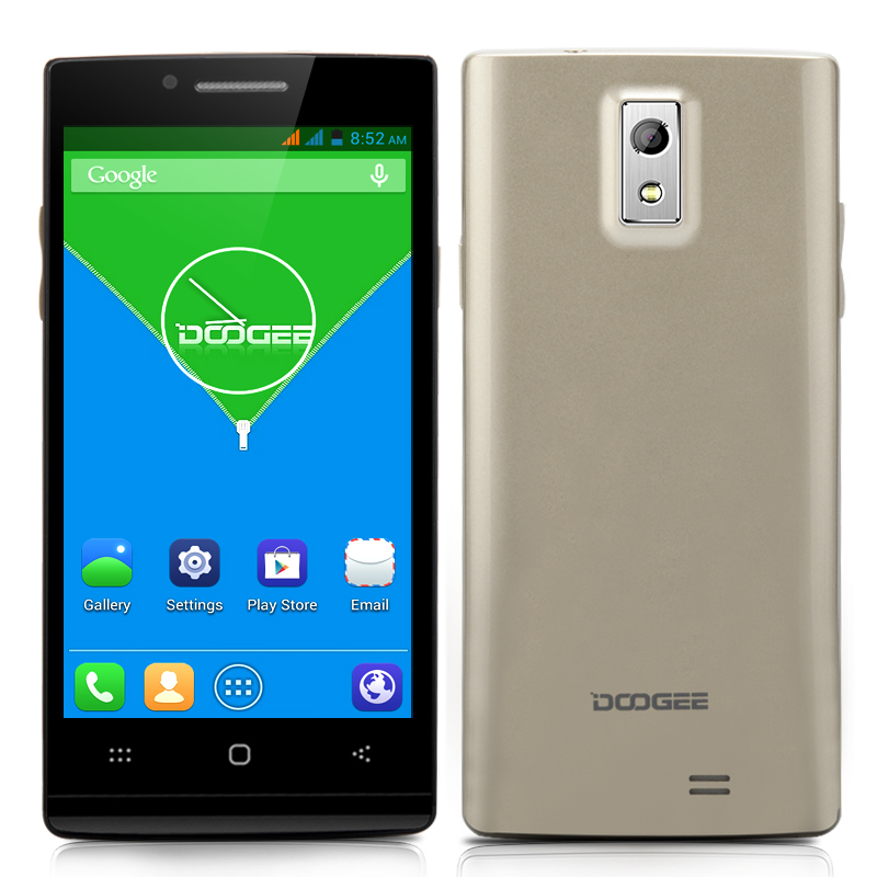 Wholesale DOOGEE Latte DG450 Quad Core Phone (4.5 Inch, 8.0MP Camera, 1080p HD Video Recording, MTK6582 1.3GHz CPU, Gold)
