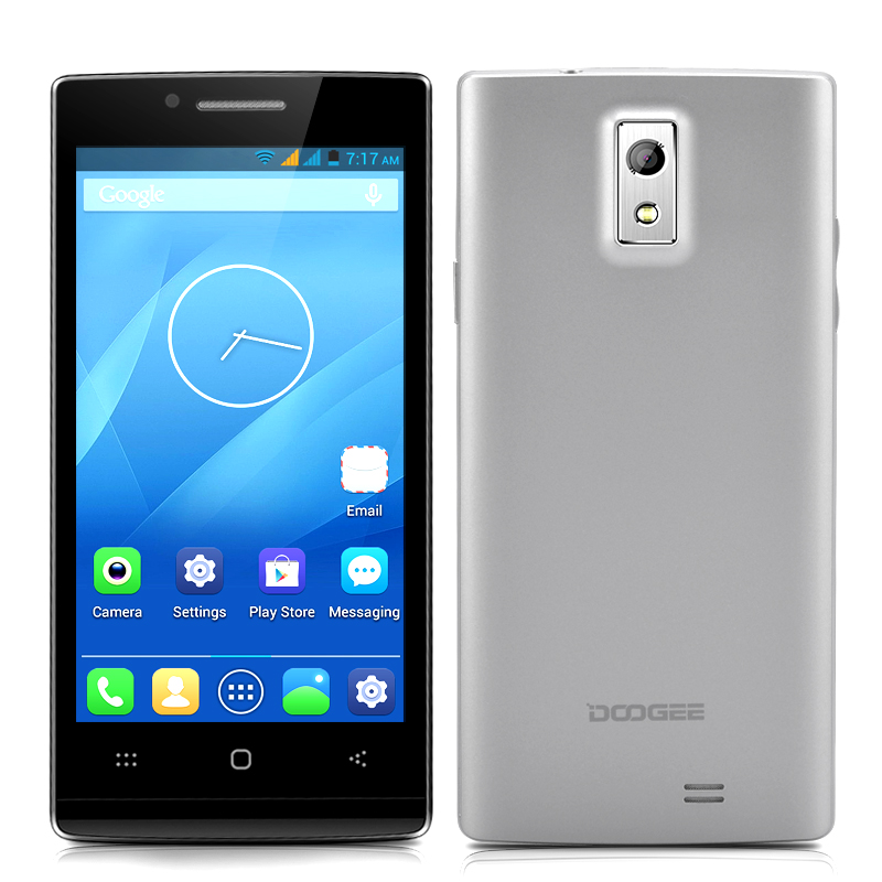 Wholesale DOOGEE Latte DG450 4.5 Inch IPS Quad Core Phone (8.0 MP Camera + F2.2 Aperture, 1080p HD Video Recording, GPS, Silver)