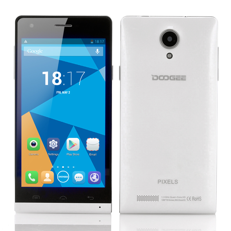 Wholesale DOOGEE PIXELS DG350 720p Quad Core Android Phone (4.7 Inch IPS Screen, MTK6582 1.3GHz CPU, 1GB RAM + 4GB ROM, White)