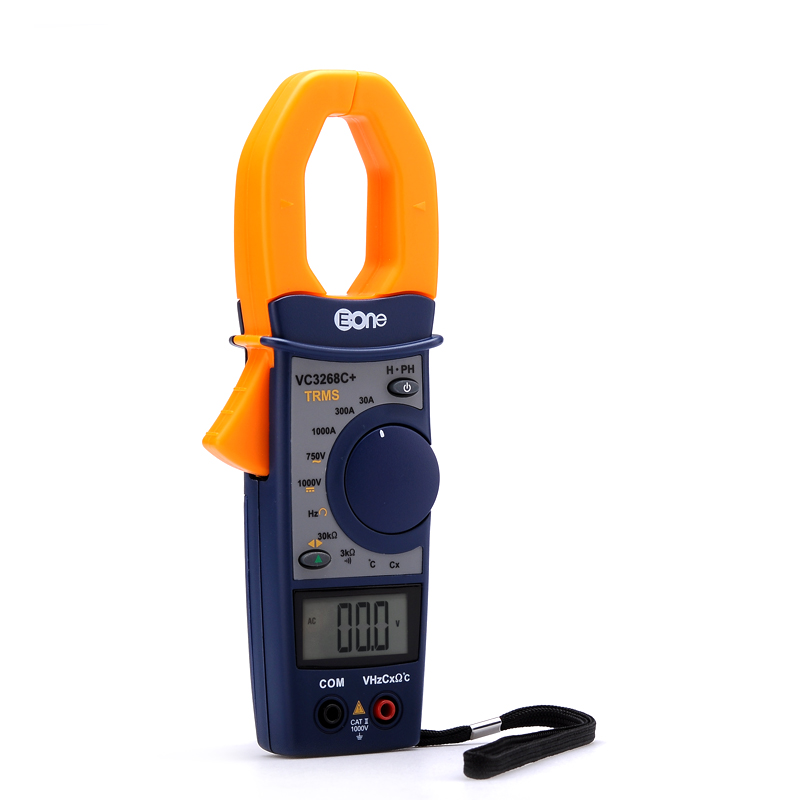 Wholesale EONE VC3268P Clamp Multimeter (Temp, Phase Sequence, Frequency, 30A/300A/1000A AC Measurements + Digital LCD)