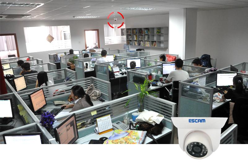 ESCAM Snail QD500 1/4 Inch CMOS IP Camera (ONVIF, H.264, 10m Night Vision, Weatherproof, Dual-Stream)