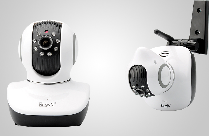 EasyN V10D (P1)720p Indoor Wireless IP Camera (Two Way Audio, PTZ, H.264, Night Vision)