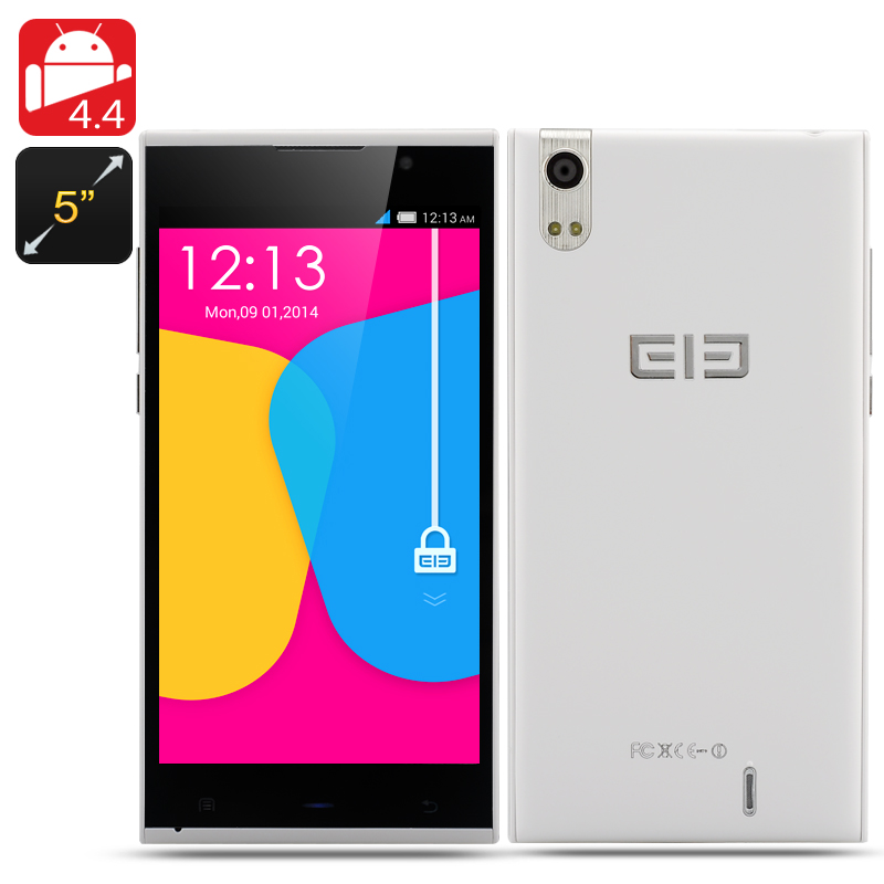 Wholesale Elephone P10 5 Inch Quad Core Phone (1280x720, 1.3GHz CPU, Android 4.4, 1GB RAM, 16GB ROM, White)