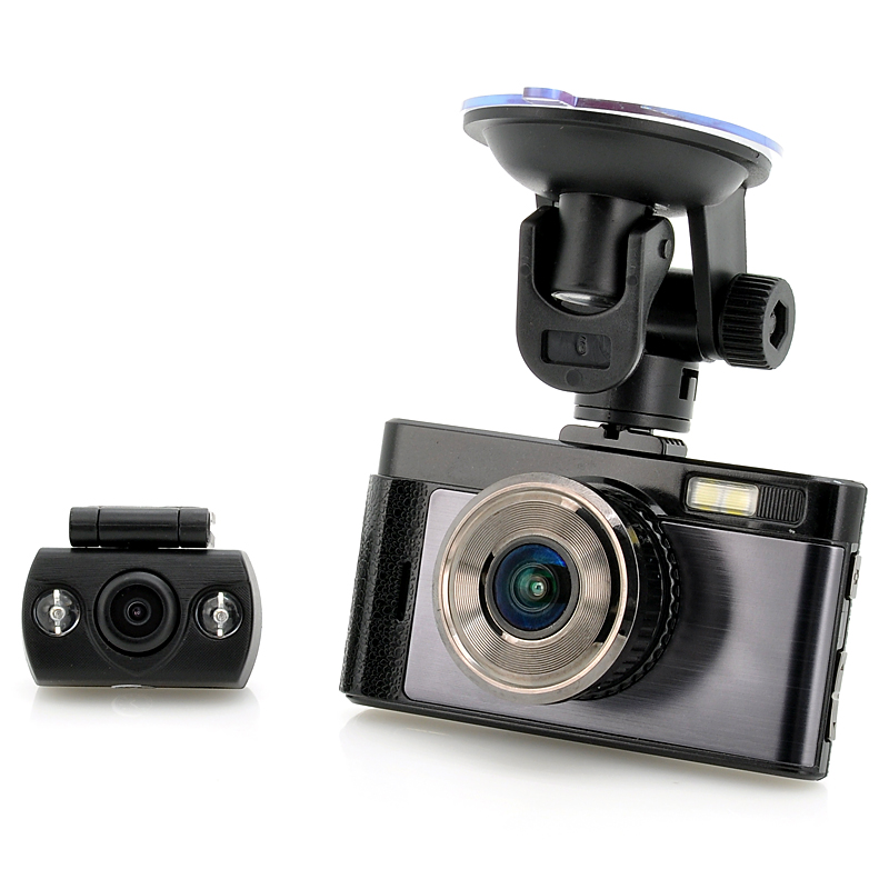 Wholesale FHD Car DVR with Rear View Camera (H.264, 3 Inch Screen, 140 Degree Wide Angle, 3MP CMOS)