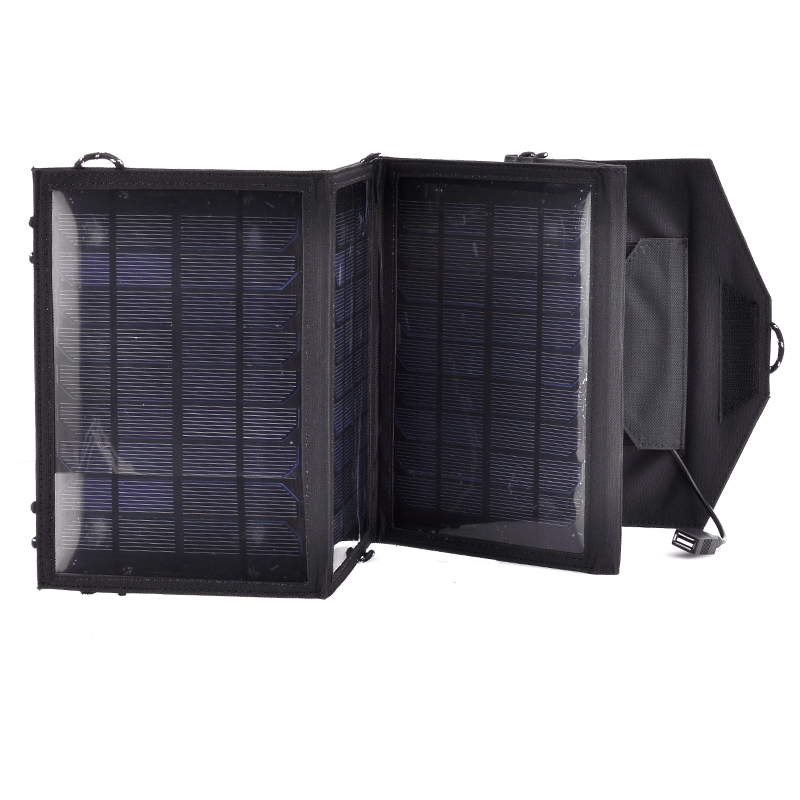 Wholesale Foldable Weatherproof USB Solar Panel for Camping (14W, 5.5V, USB Charging)