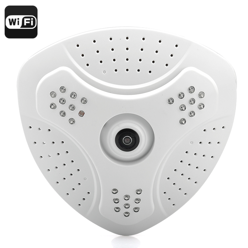 Wholesale Full 360 Degree Fisheye Surveillance Camera (1/3 Inch CMOS, H.264, Phone View)