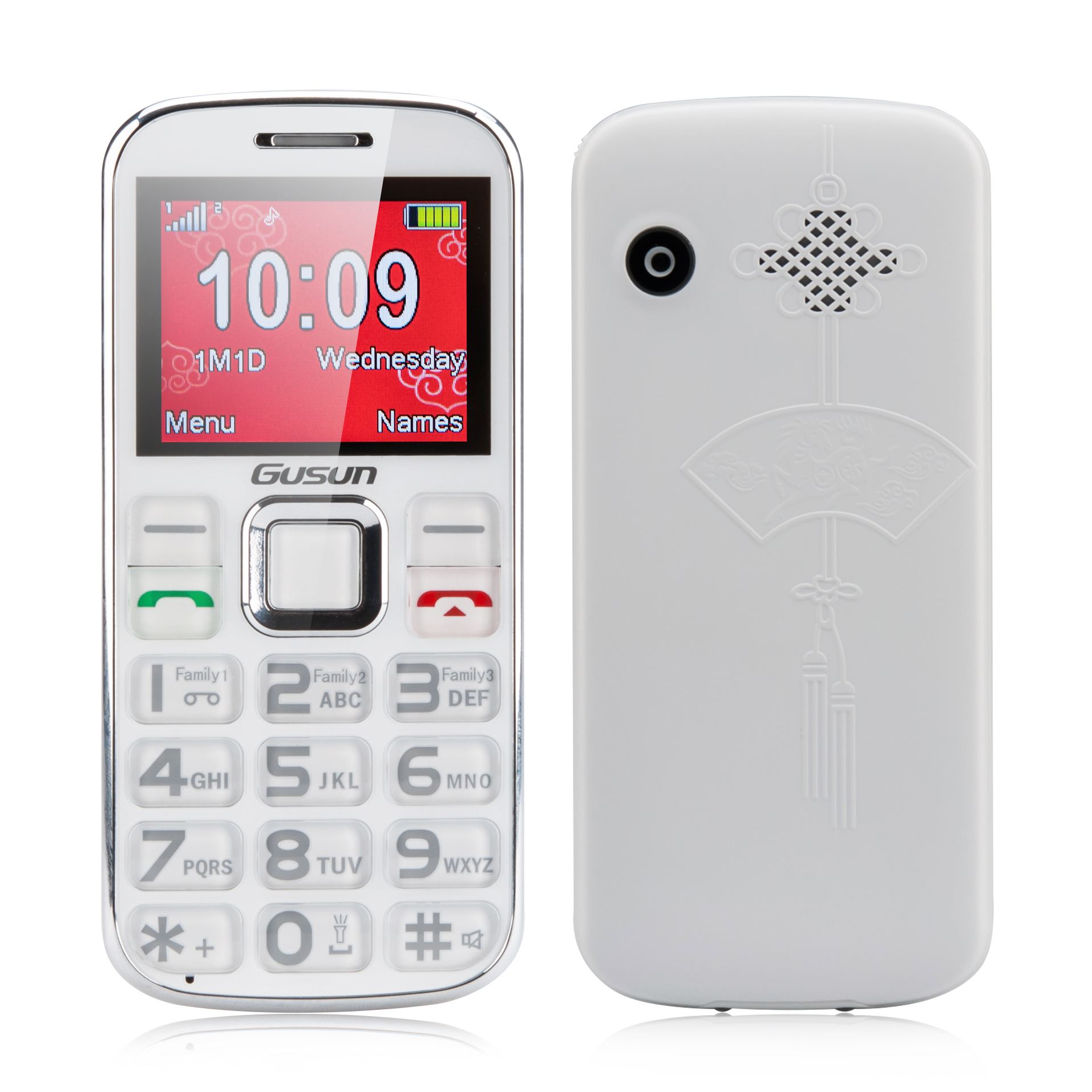 Wholesale Gusun F10 Dual SIM Senior Citizen Phone (Quad Band, 2 Inch, FM R