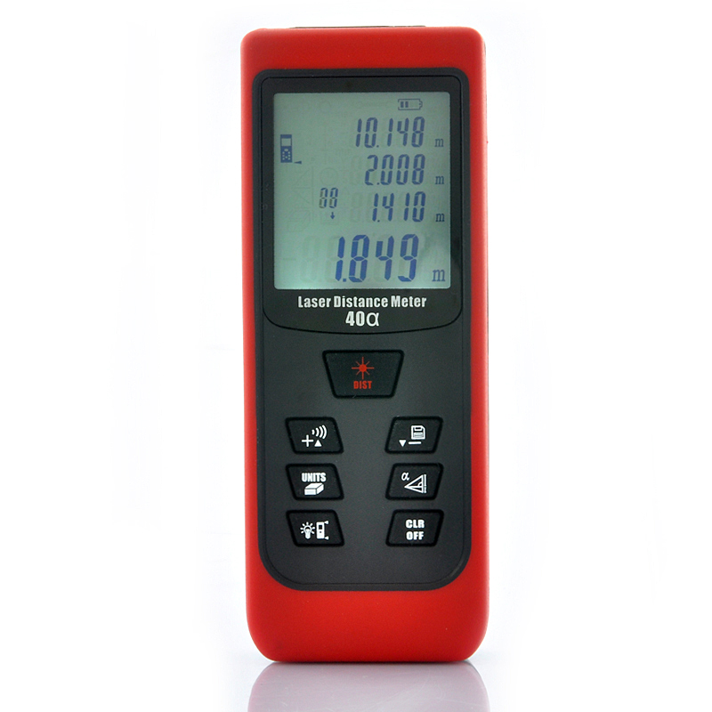 Wholesale Hand-Held Laser Distance Meter-Timer (0.05 to 40 Meters, Tilt Sensor, Distance/Area/Volumetric Measure)