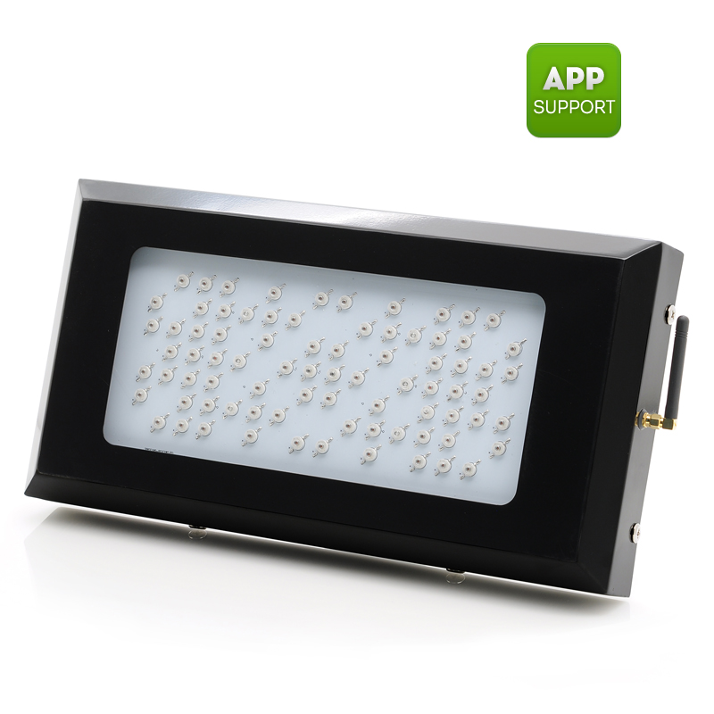 Wholesale Hydroponic IP55 LED Grow Light (240W, 80 LEDs, 2 UV LEDs, Android + iOS Wi-Fi Control)