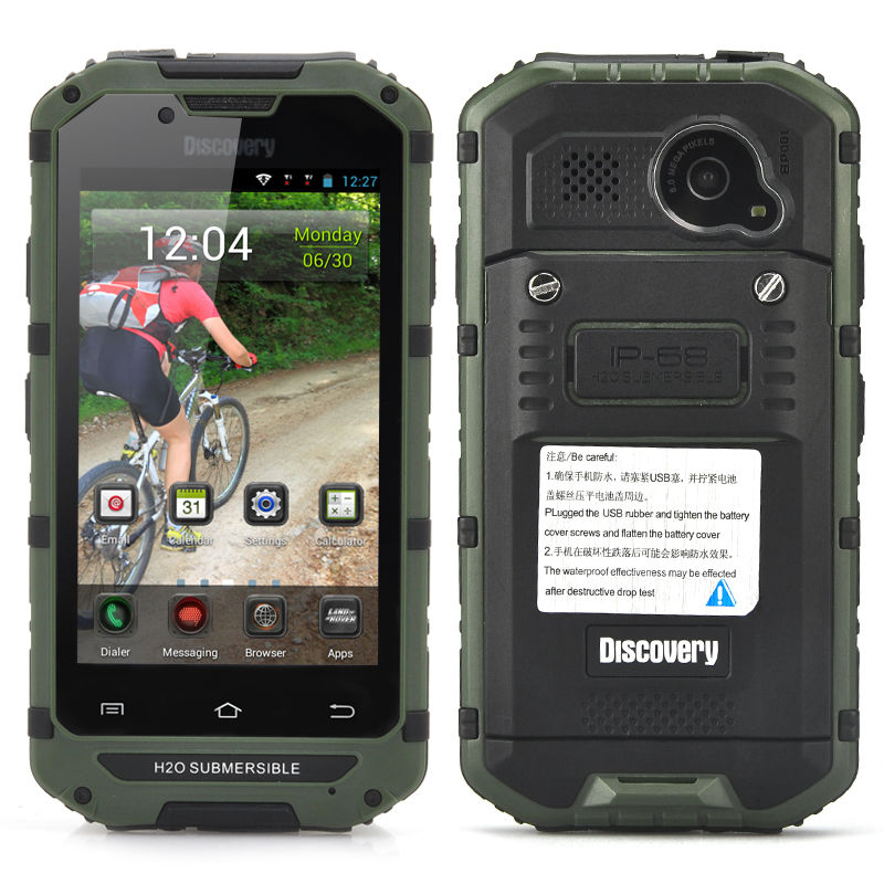 Wholesale IP68 Rugged CDMA 3G Smartphone (Waterproof, Dust Proof, 4 Inch, 8MP Rear Camera, Green)
