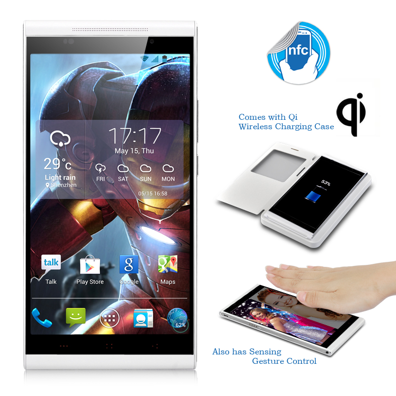 Wholesale KingZone K1 Turbo Octa Core Android Phone (5.5 Inch OGS Screen, 1920x1080, 1.7GHz CPU, Qi Wireless Charging Case, White)