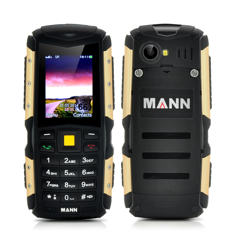 Wholesale MANN ZUG S 2 Inch Mini Rugged Phone (IP67 Waterproof, Dust Proof, Shockproof, 2570mAh, Gold)