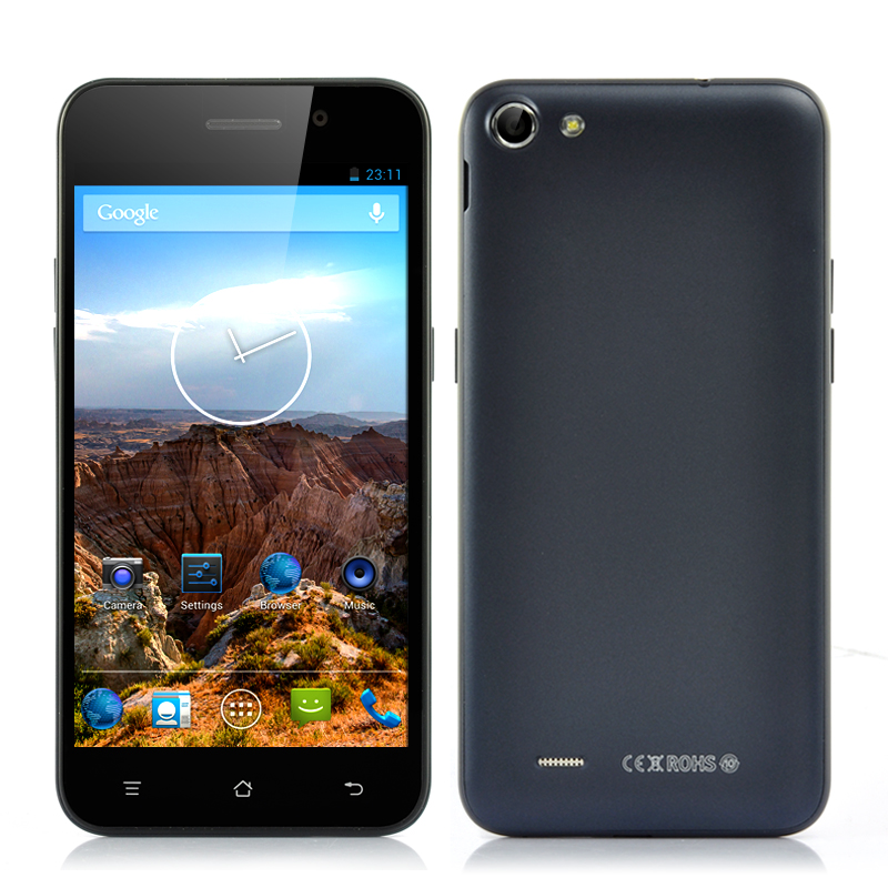 Wholesale 5 Inch 720p HD Quad Core Android Smartphone (Dual SIM, MTK6582 1.3GHz CPU, 1GB RAM, Black)
