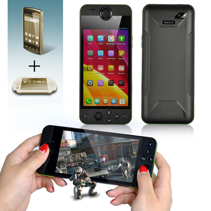 Wholesale MUCH G2 Game Console 3G Android Smartphone (5 Inch, 1280x720, 1.2GHz Quad Core CPU, 1GB RAM, 16GB ROM)