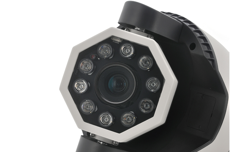 IP Speed Dome Camera with 27x Optical Zoom (10 Array LEDs, 120 Meter Night Vision, H.264)
