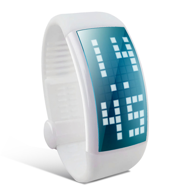 Wholesale 3D Pedometer Sport Wrist Watch with LED Screen, Touch Button, 8G