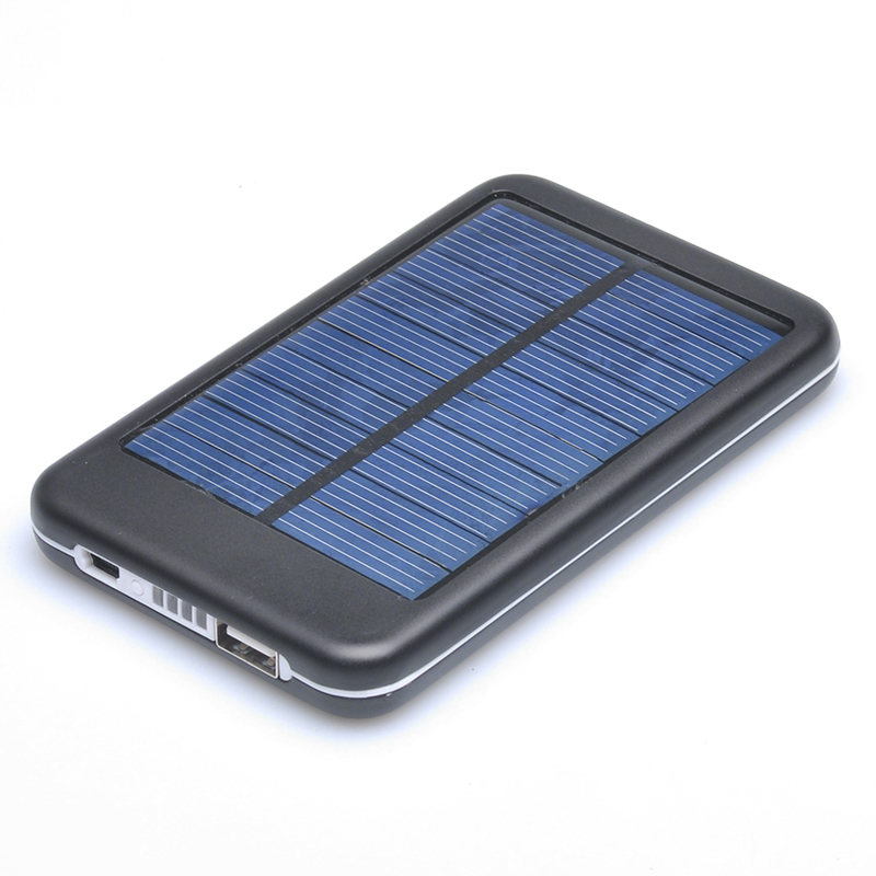 Wholesale Solar Panel Powered Back Up Battery USB Charger (4000mAh, Polycr