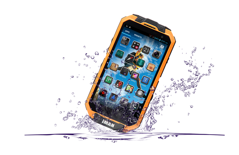 Iman I3 Wireless Charging Quad Core Rugged Smartphone 4 3