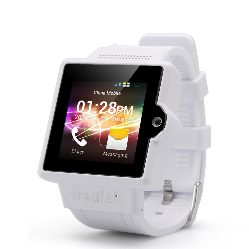 Wholesale iradish i6S Android 3G Watch Phone (1.54 Inch Screen, Dual Core 1.0GHz CPU, 4GB ROM, White)