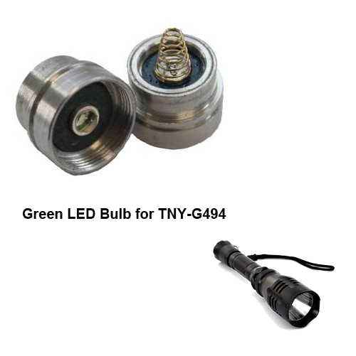 Wholesale Green LED Bulb for TNY-G494 CREE R5 LED Flashlight