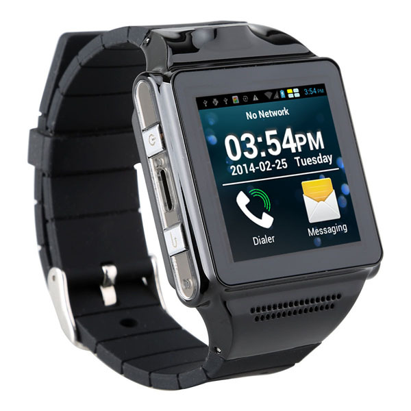 Wholesale 1.54 Inch Touchscreen Dual Core Android Watch Phone with 5.0MP Camera, WiFi, GPS