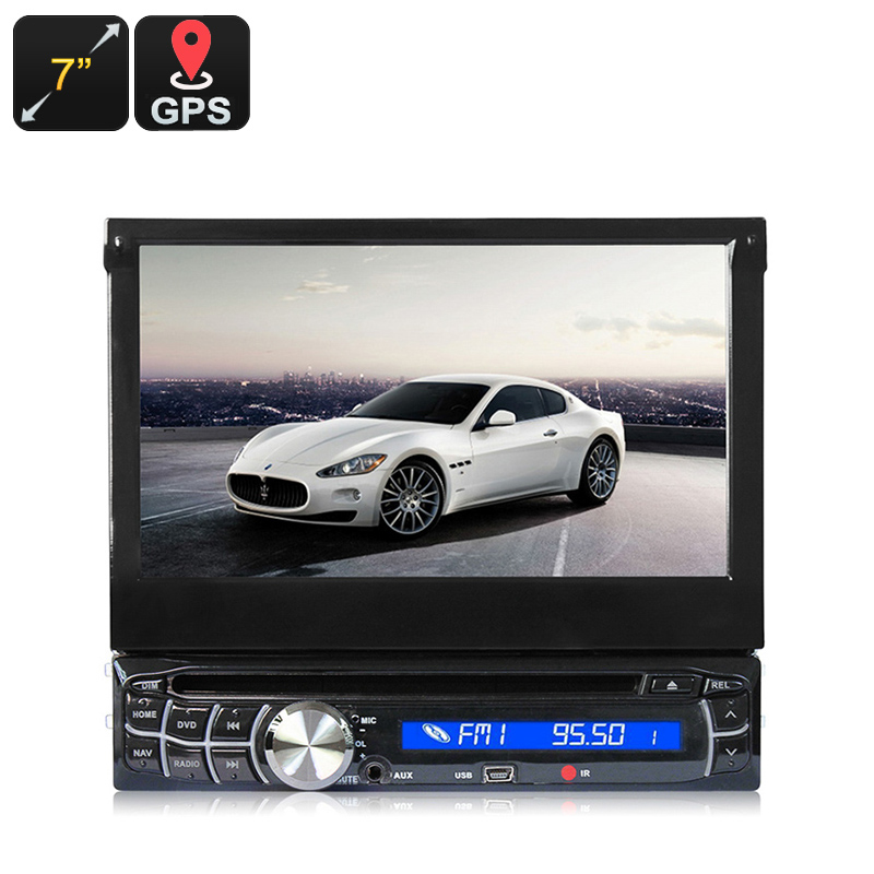 Wholesale 7 Inch Touchscreen 1 DIN Car Media Player with GPS, Bluetooth, FM Radio