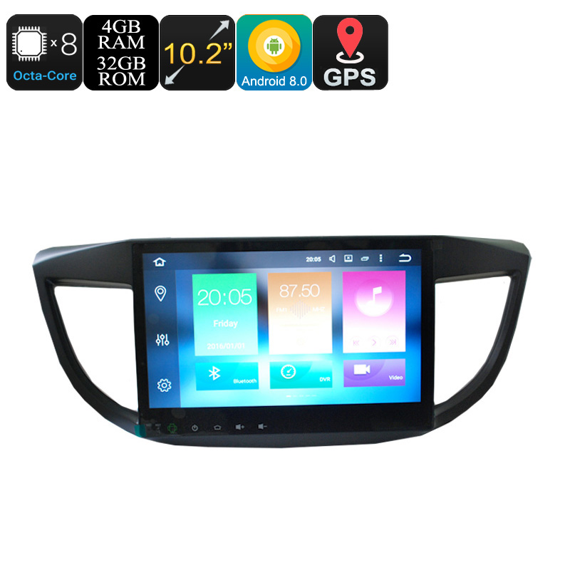 Wholesale 10.2 Inch 1 DIN Android 8.0 Car Stereo for Honda CRV (Octa-Core, 3G + 4G, CAN BUS, GPS, Bluetooth, Wi-Fi, 4 + 32GB)