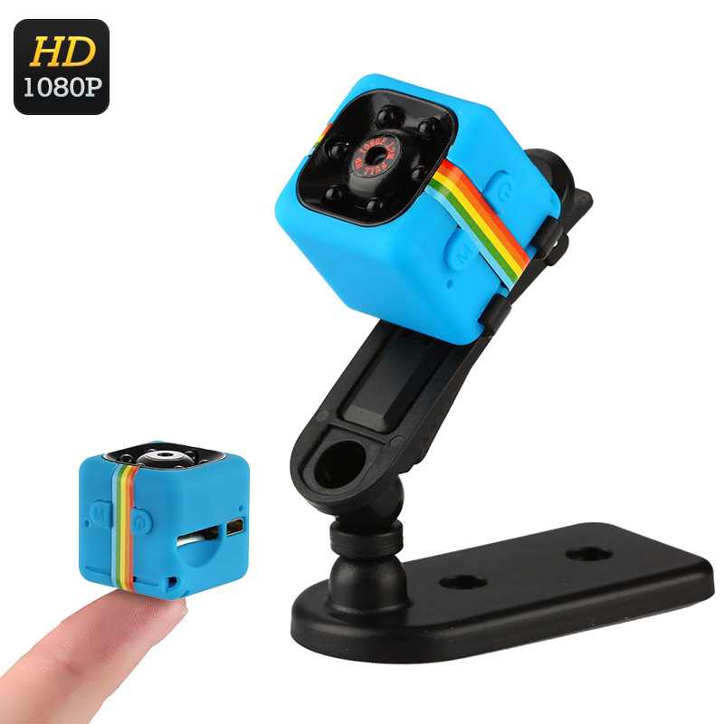 Wholesale 1080p Full HD Mini Sports Camera (Night Vision, Motion Detection + Loop Recording, Blue)
