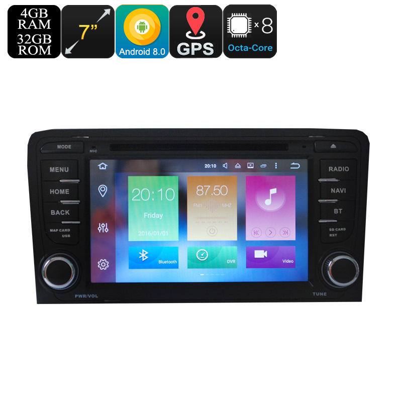"Wholesale 7"" Touchscreen 2 DIN Android 8.0 Car DVD Player For Audi A3 (GPS, Bluetooth, Octa-Core CPU, 4GB RAM, 32GB)"