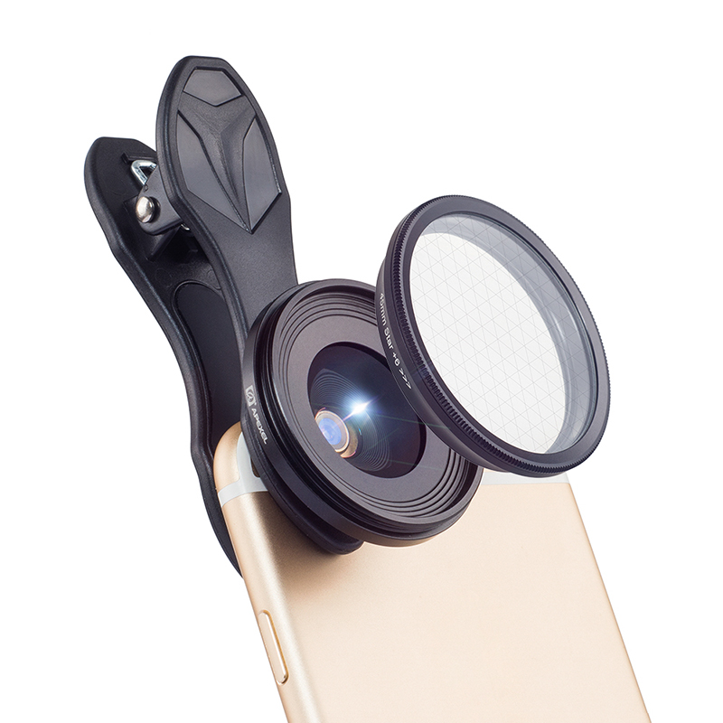 Wholesale 2-In-1 Universal Phone Lens Kit with 20x Macro Lens and Star Filter - For iOS/Android