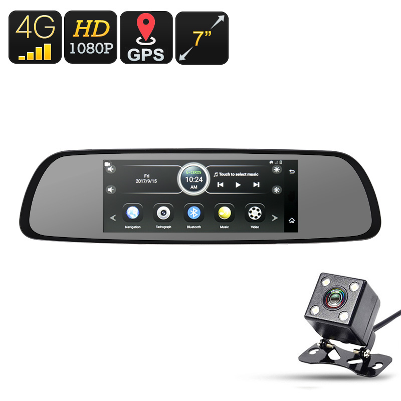 Wholesale 7 Inch Android 4G WiFi Car DVR with 1080p Dashcam, Backup Camera, 66-CH GPS