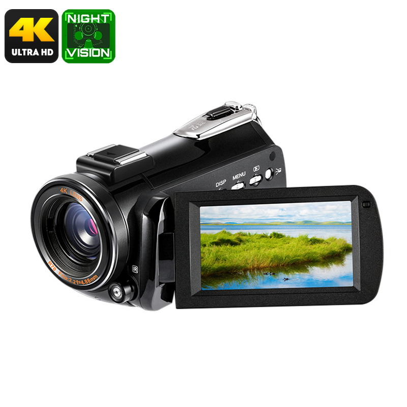 Wholesale 4K Digital Video Camera (1/4 Inch CMOS, 30x Digital Zoom, 24MP Photo, 3 Inch Screen, APP Control)