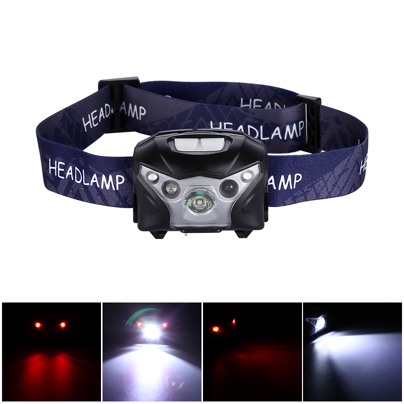 Wholesale Handsfree LED Headlamp Torch (200 Meter Range, 160 Lumen, 1200mAh, RED SOS LEDs)