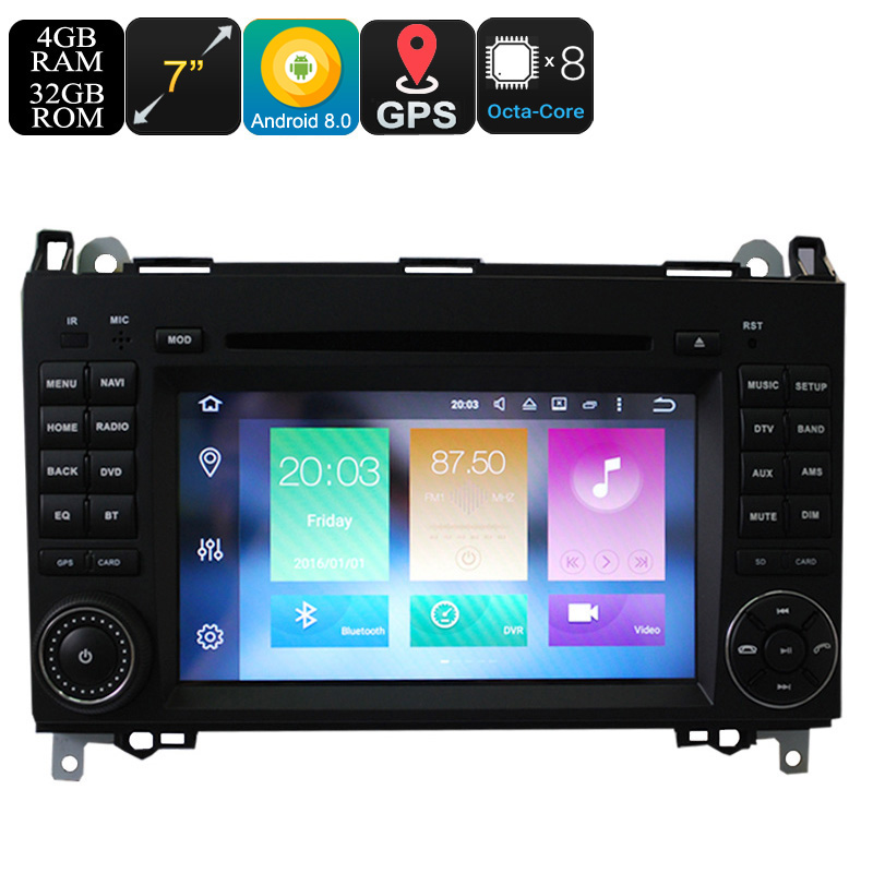 Wholesale 7 Inch Dual DIN Android Car DVD Player for Benz (Octa Core, CAN BUS, GPS, 3G/4G + Wifi, Bluetooth, 4 + 32GB)