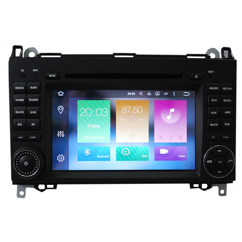 7 Inch Dual DIN Android Car DVD Player for Benz (Octa Core, CAN BUS, GPS, 3G/4G + Wifi, Bluetooth, 4 + 32GB)