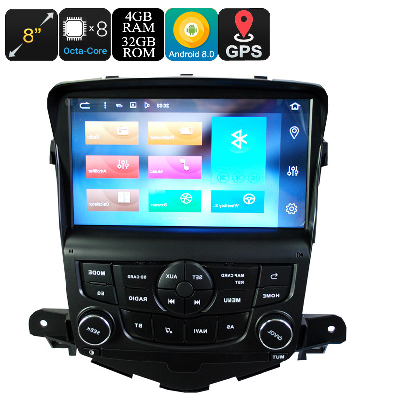 Wholesale 8 Inch Android 8.0 1 DIN Car Stereo for Chevrolet Cruze (Octa-Core, 4GB RAM, CAN BUS, GPS, Bluetooth, 32GB)