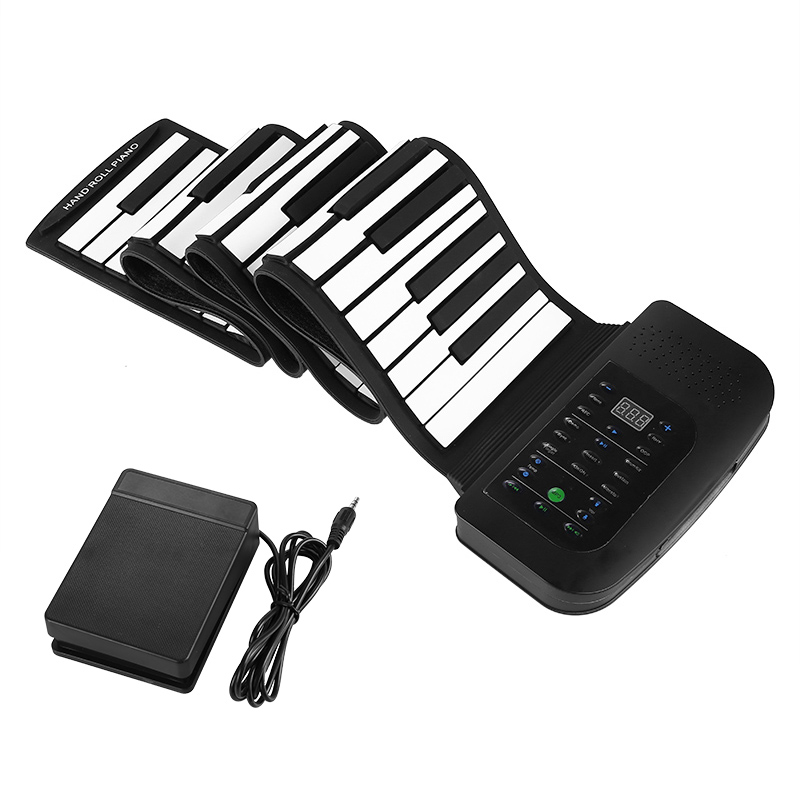 rechargeable rollup piano keyboard 88 keys 1000mah sustain peddle headphone jack taia g865. Black Bedroom Furniture Sets. Home Design Ideas