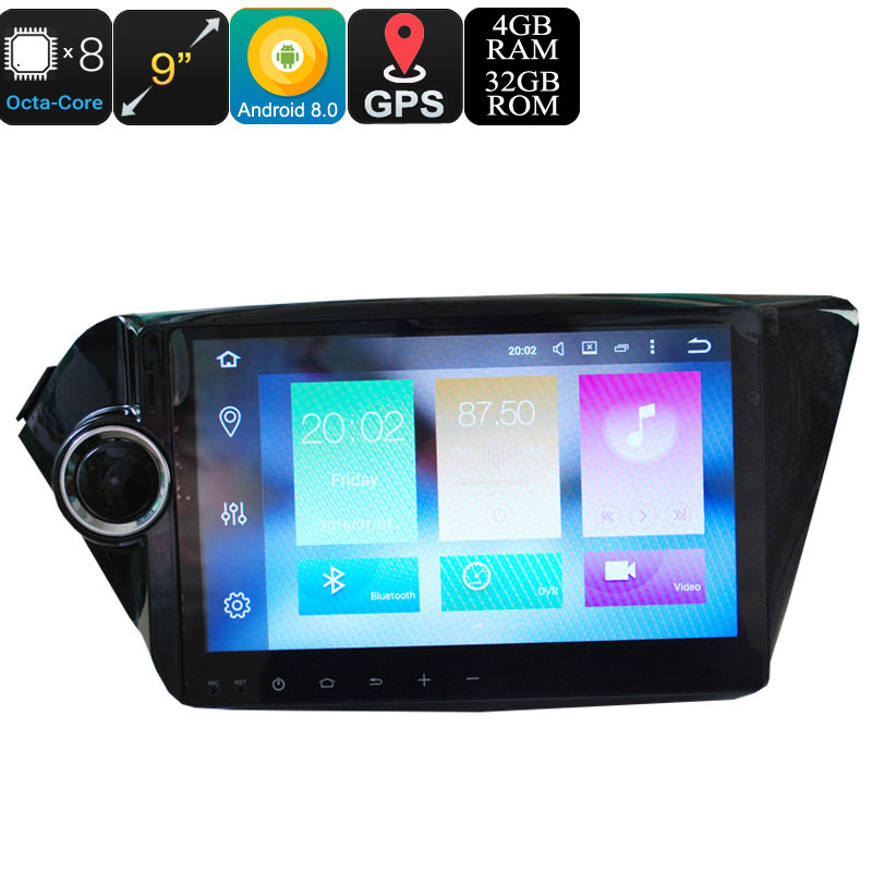 Wholesale 9 Inch 2 DIN Android 8.0 Media Player for KIA K2 New Rio (Octa-Core, 32GB, GPS)