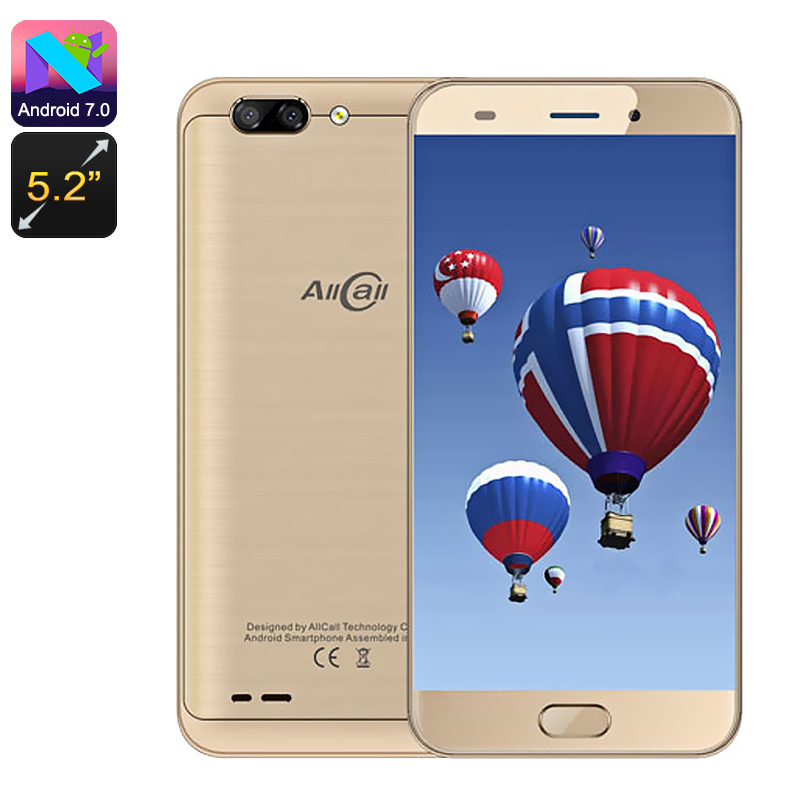 Wholesale AllCall Atom 5.2 Inch Dual SIM 4G Smartphone (Android 7, Quad Co