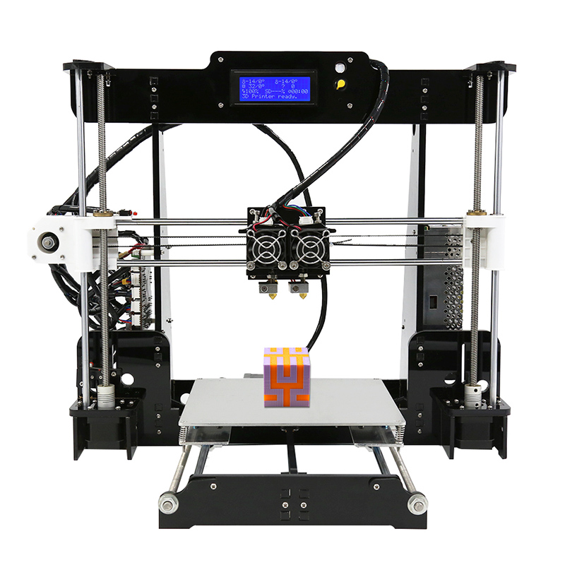 Wholesale Anet A8 M DIY 3D Printer Kit (Dual Nozzles, Online + Offline Printing, High Precision)